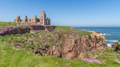 Slains Castle in North East Aberdeenshire